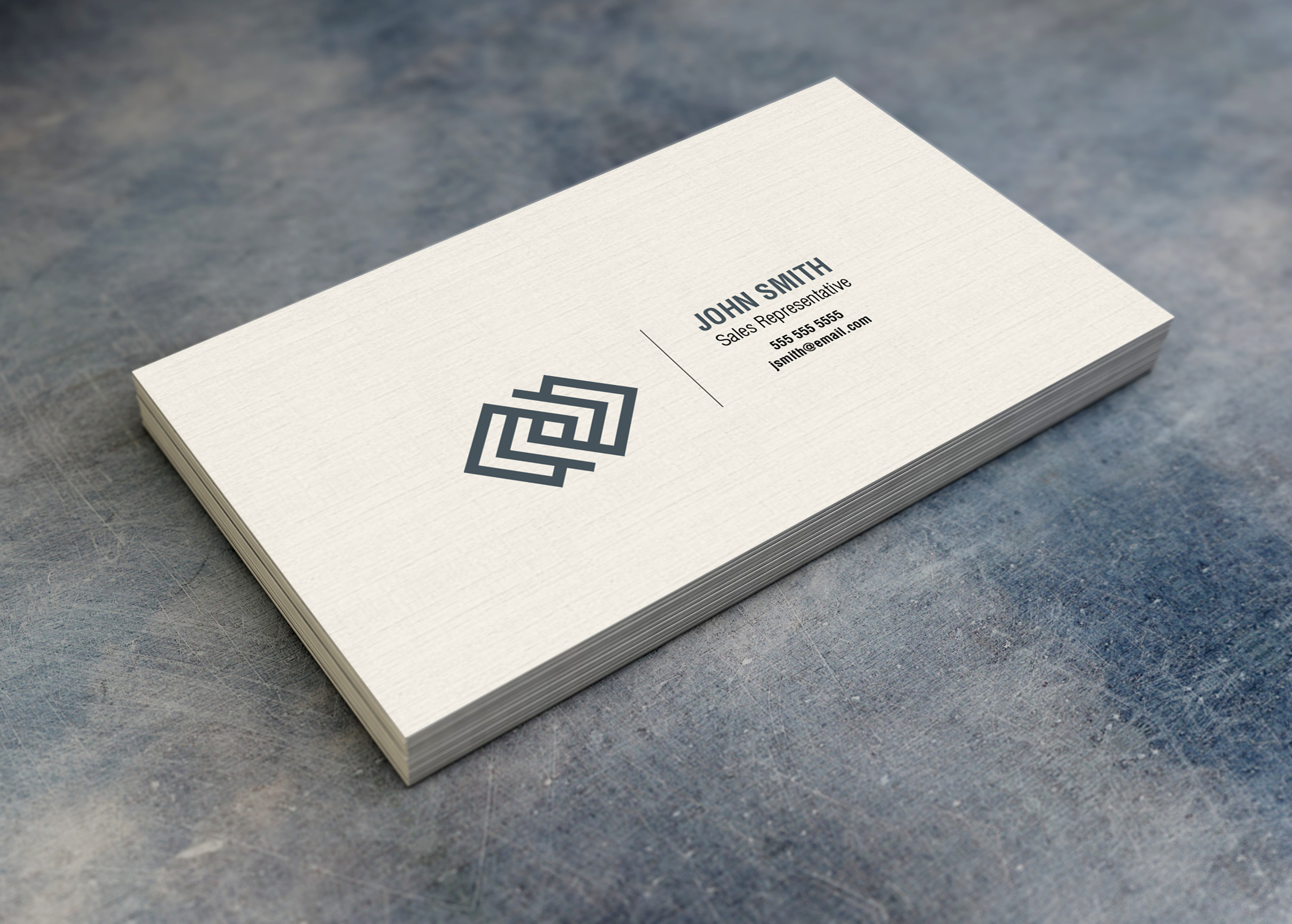 13pt Linen Business Cards